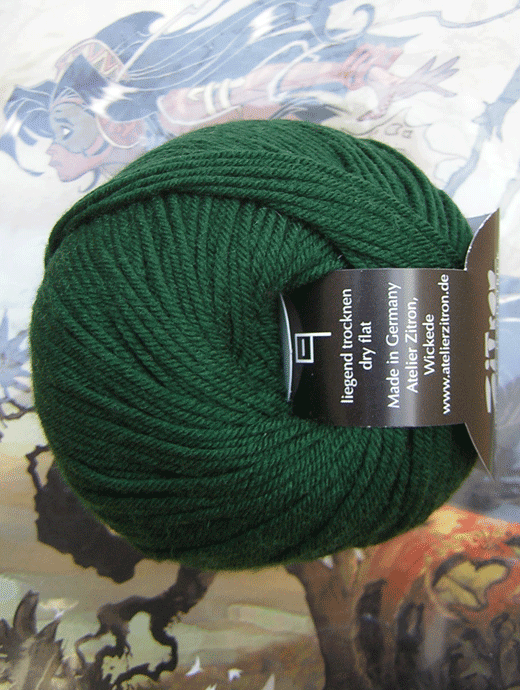 Life Style Wolle - grün dunkel - Farbe 83