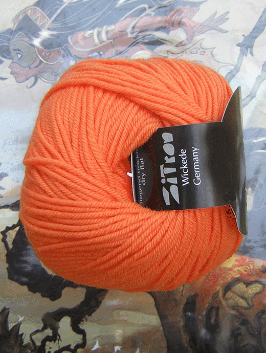 Life Style Wolle - orange zart - Farbe 90