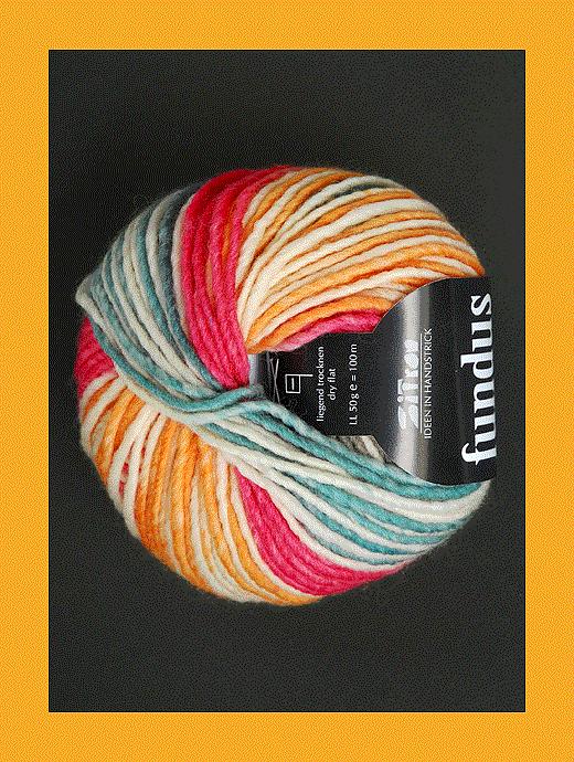 Fundus - rot ocker weiss hellblau - Farbe 120