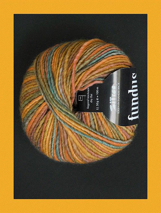 Fundus - ocker braun helltürkis - Farbe 180