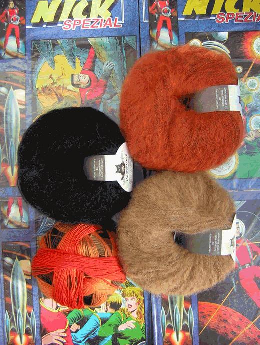 Wollpaket: Raglanpullover für Louise: Grösse 36/38 - Farbe 2247, 089, 7490, 880