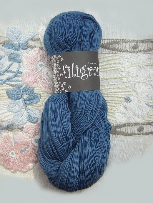 Filigran Lace Uni - herrenblau - Farbe 2509