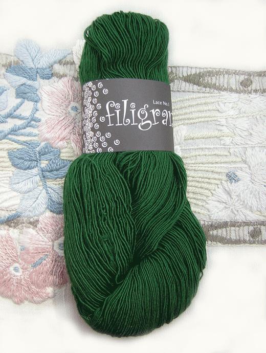 Filigran Lace Uni - tannengr�n - Farbe 2517