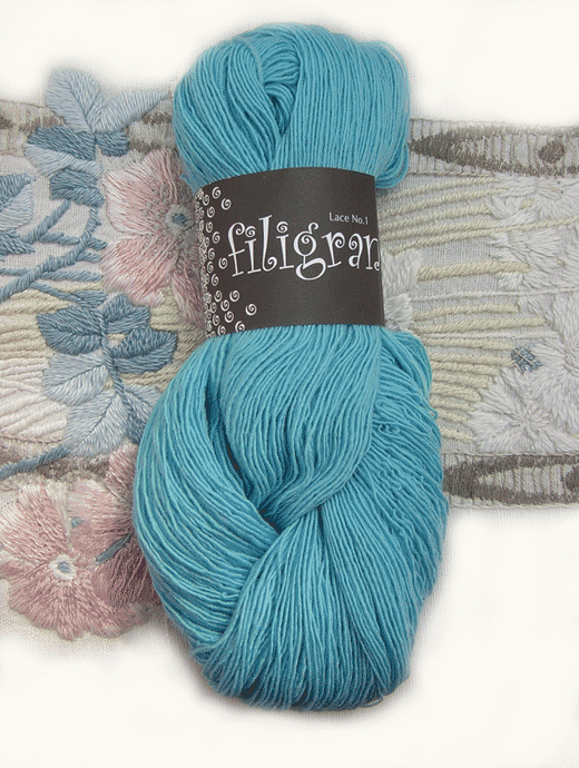 Filigran Lace Uni - himmelblau - Farbe 2518