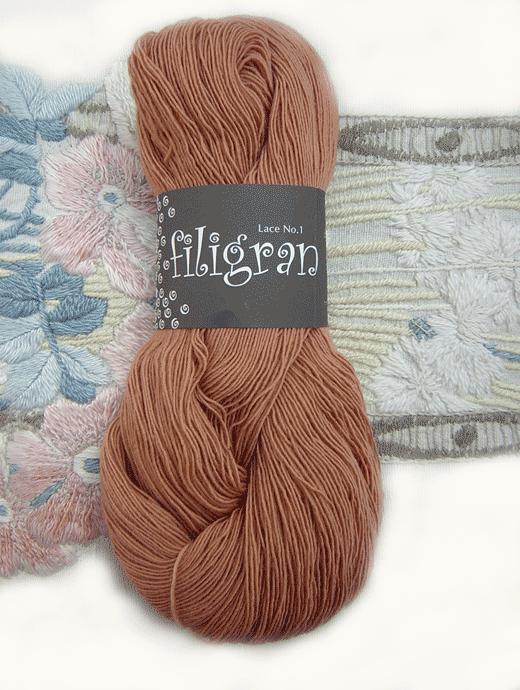 Filigran Lace Uni - mandelbraun - Farbe 2522