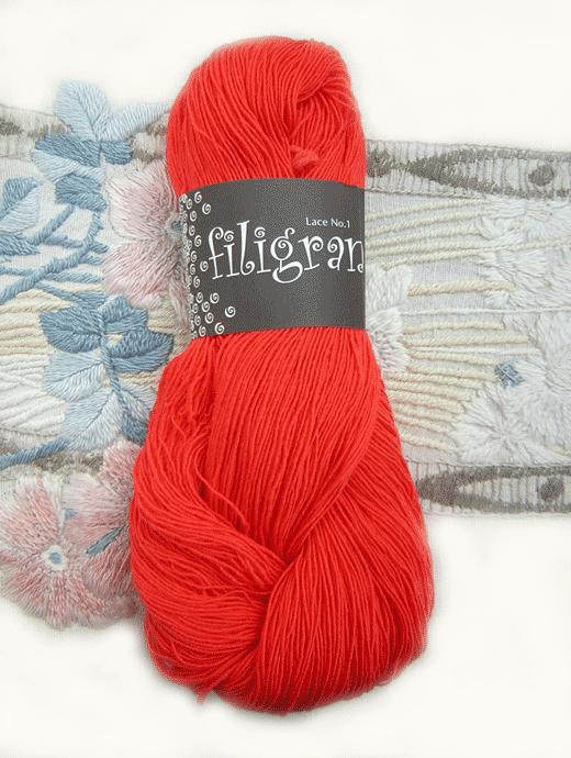 Filigran Lace Uni - belgischrot - Farbe 2525