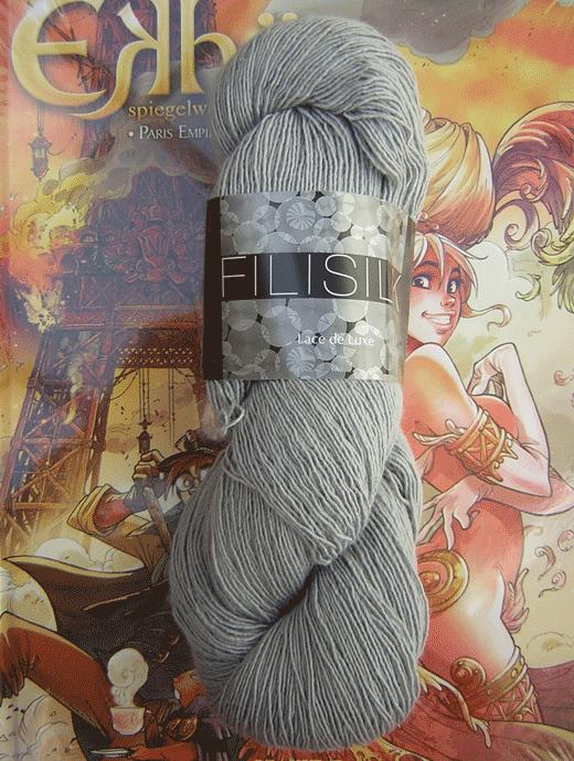 Filisilk Lace Uni - smoke grau - Farbe 3039