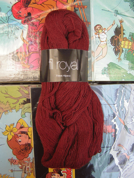 Fil Royal Lace Uni - roteisen dunkel - Farbe 3506