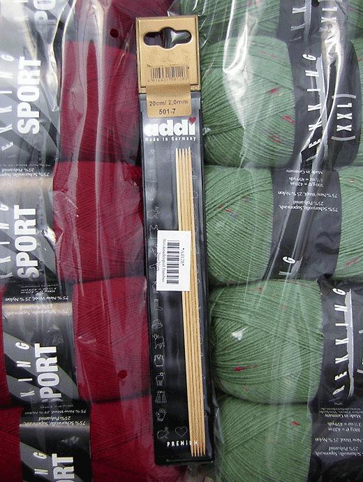 Addi - Nadelspiel Bambus 2,0 - Länge: 20 cm