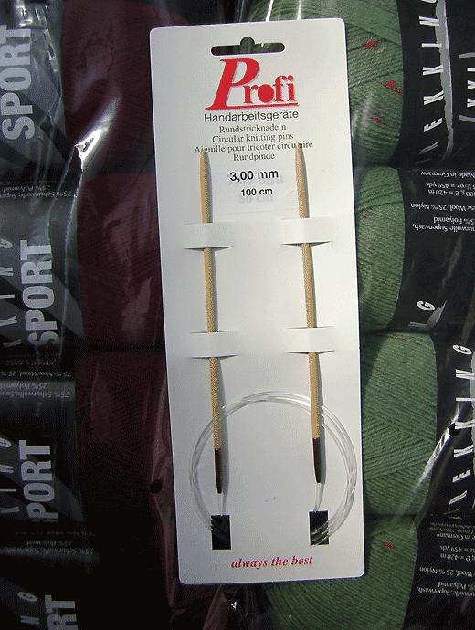 Rundstricknadel - Bambus 3,0 - Länge: 100 cm