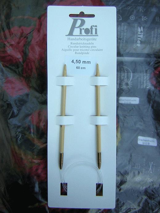 Rundstricknadel - Bambus 4,5 - Länge: 60 cm