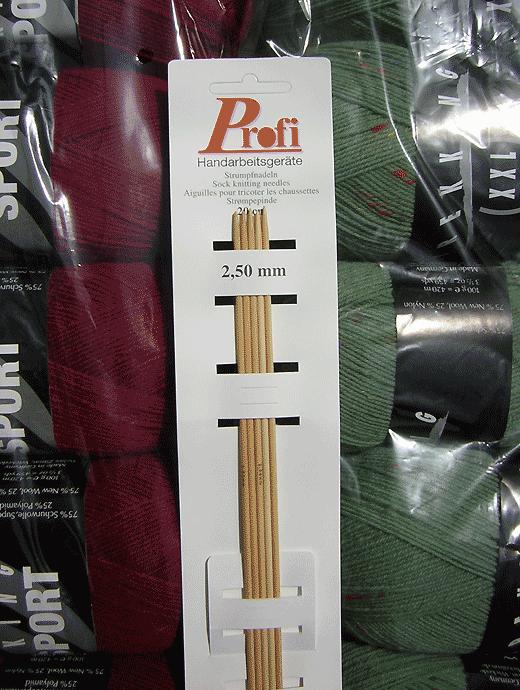 Nadelspiel Profi - Bambus 2,5 - L�nge: 20 cm