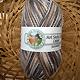 "Hot Socks Colori 100 - grau braun weiss, Farbe 302, Gr�ndl, 75% Schurwolle ""Superwash"", 25% Polyamid, 4.95 �"