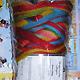 Filzwolle Fingerwolle Regenbogenkammzug - Papagei