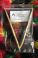 Rundstricknadel 08 - Bambus 8,0, Länge: 80 cm, Profi, Nadeln mit flexiblen transparenten Kunststoffseil, 7.90 €