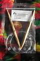 Rundstricknadel 09 - Bambus 9,0, Länge: 80 cm, Profi, Nadeln mit flexiblen transparenten Kunststoffseil, 7.90 €